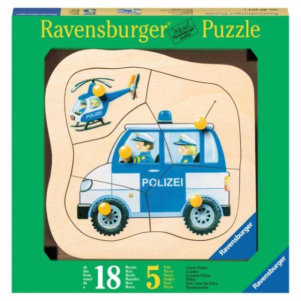Puzzle Konturen Unsere Polizei 5 Teile 03.234