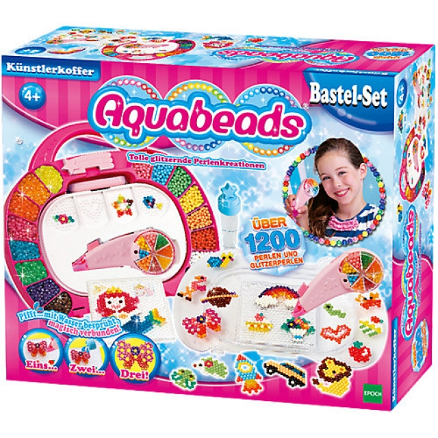 Aquabeads Blaue Glitzerperlen Nachfüll Set 600 Ersatzperlen Basteln Spielzeug
