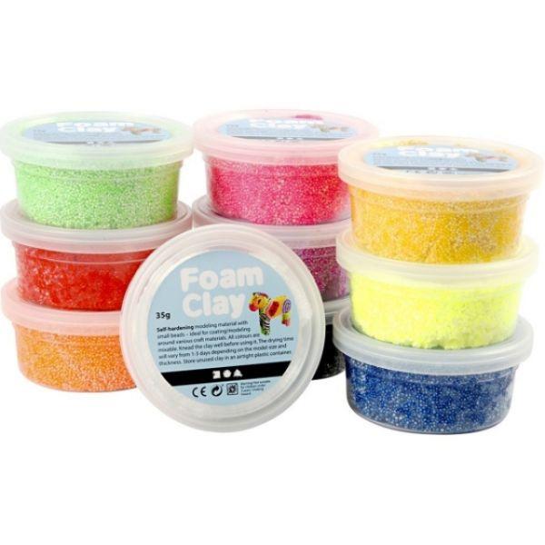 Foam Clay Basic-Set 10 x 35 Gramm