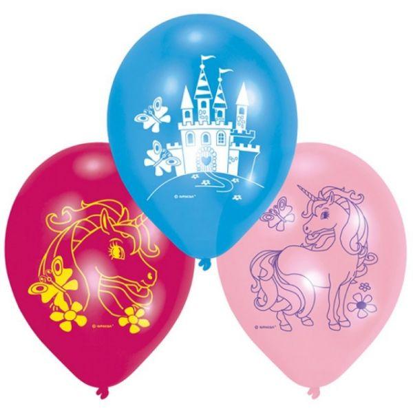 Einhorn Ballone 6 Stück