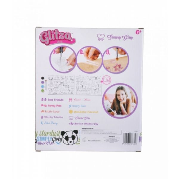 Glitza Art Simply Girly mit 100 Tattoos