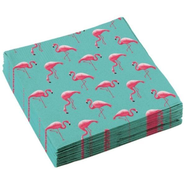 Flamingo Servietten, 20 Stück