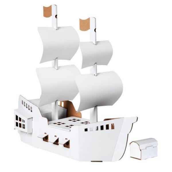 Piratenschiff zum Bemalen