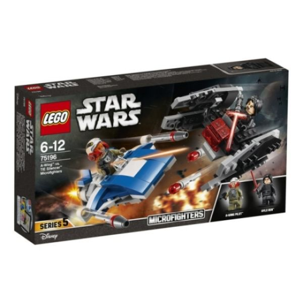 LEGO® Star Wars A-Wing vs. TIE Silencer Microfighters 75196