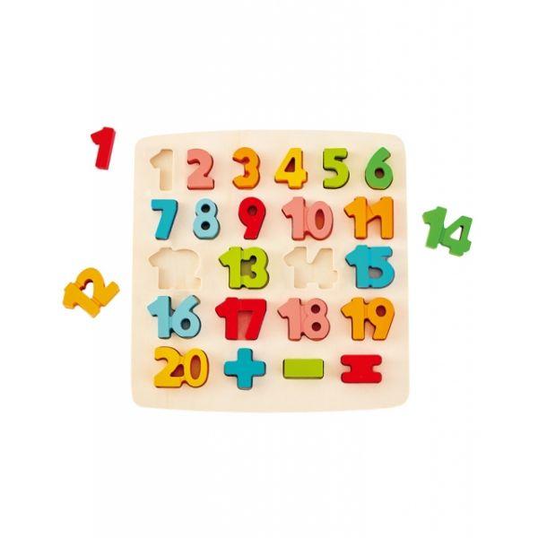 Hape Puzzle mit Zahlen und Rechens aus Holz