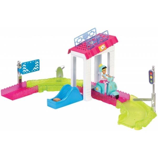 Barbie On The Go Poststation Spielset