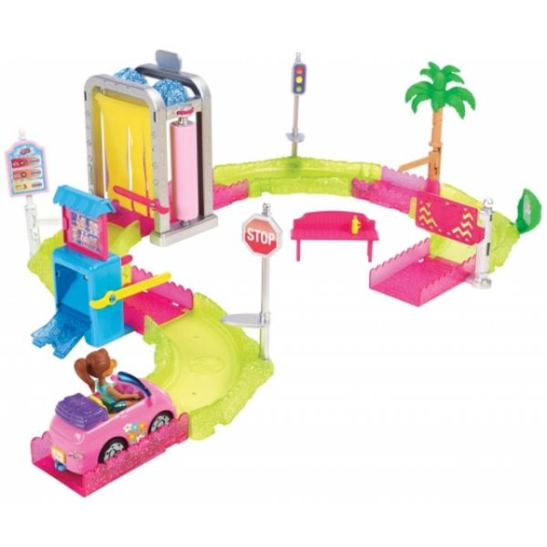 Barbie On The Go Waschanlage Spielset
