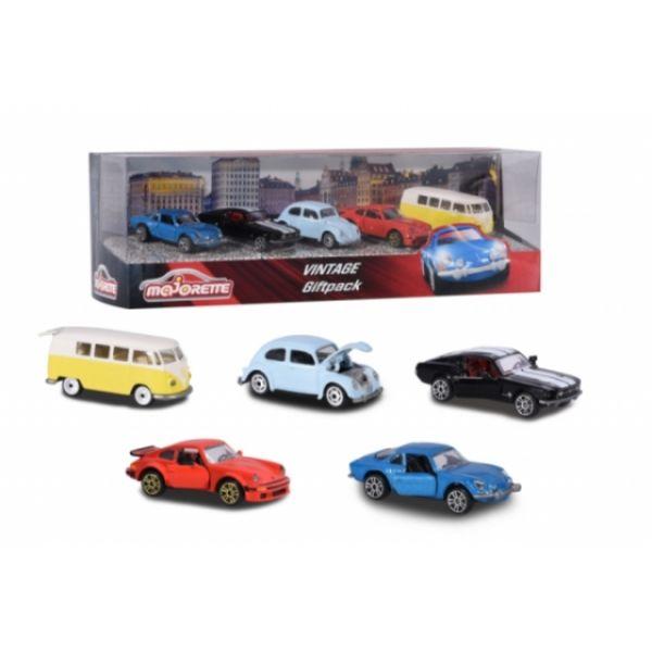 Majorette Vintage Auto 5er Pack